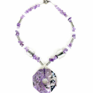Purple Crazy Lace Agate Pendant Necklace Jewelry Idea
