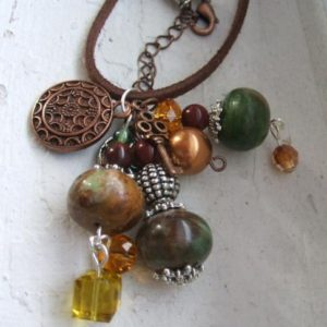 Eclectic and Earthy Leather Necklace