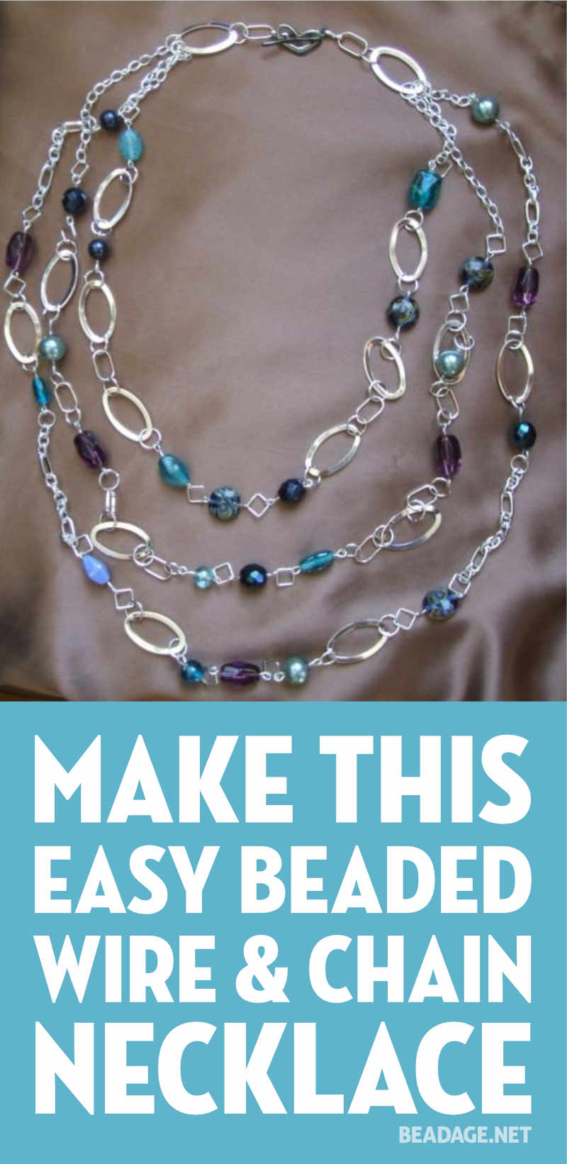 Triple Layered Chain Beaded Necklace - Step by Step Beading Project ...