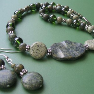 Moss Jasper Necklace Set