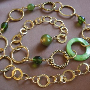 Wire Wrapped Rings Necklace