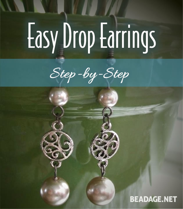 How to Make Simple Drop Earrings