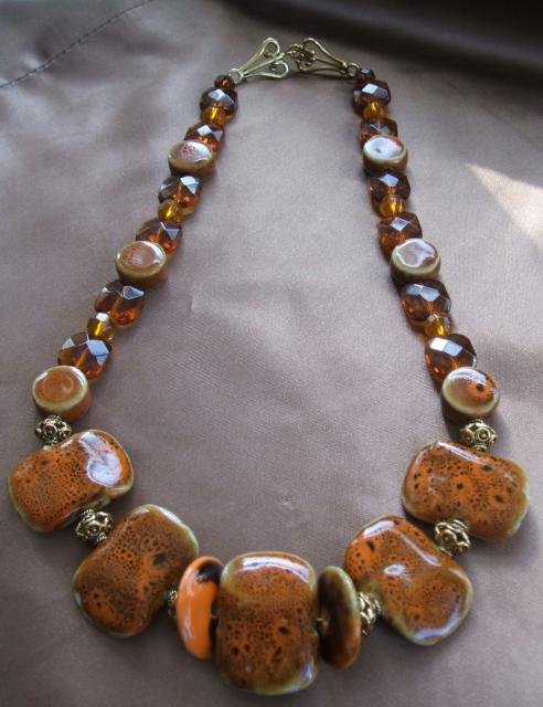 Senegal Sunset Necklace - Step by Step Project
