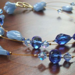 Three Strand Floating Necklace