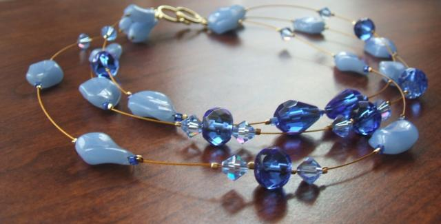Blue Floating Necklace