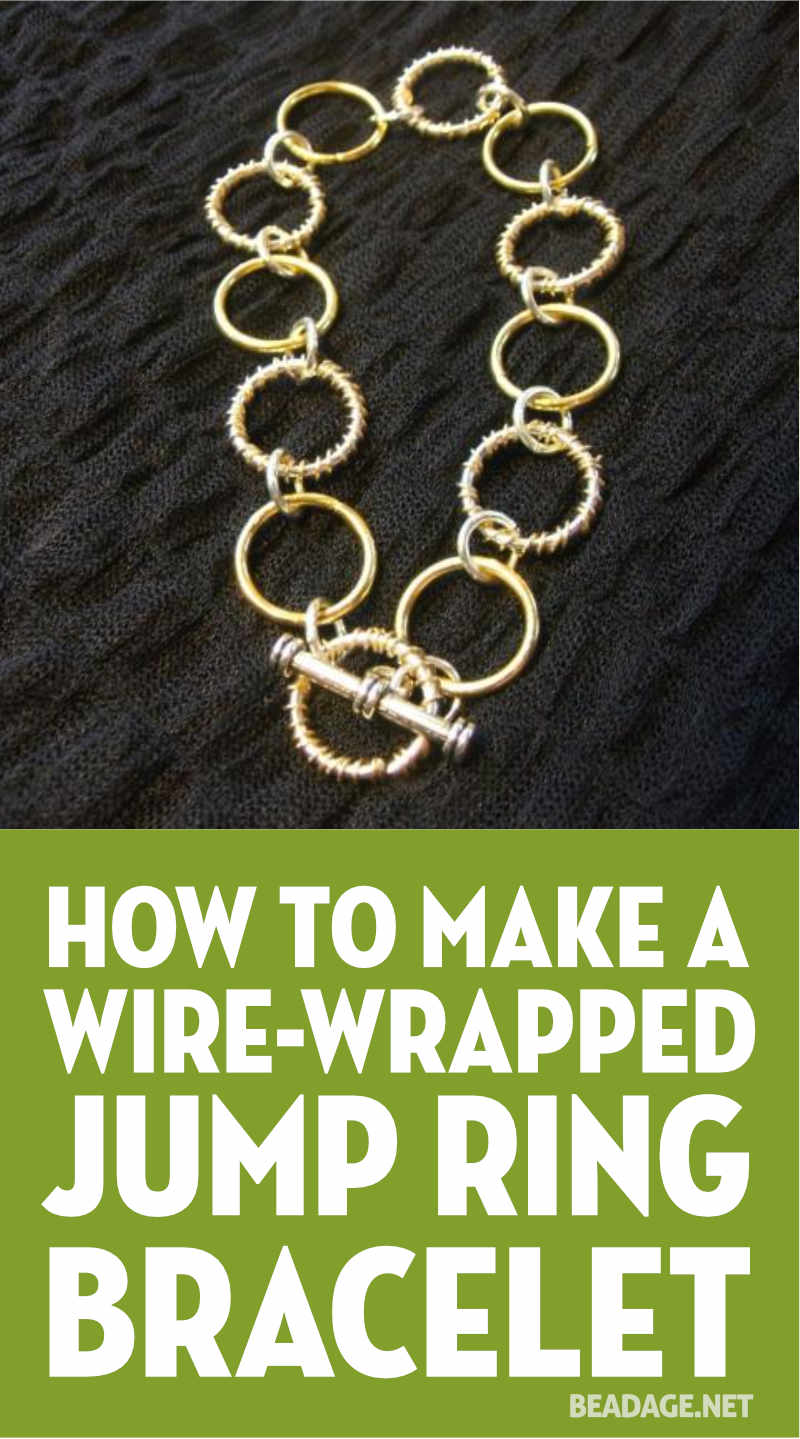 Wire Wrapped Jump Ring Bracelet