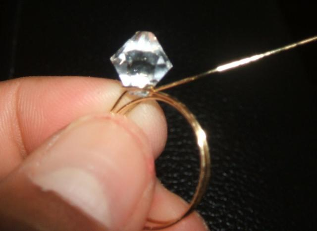 Wire-wrapped Ring Step 3