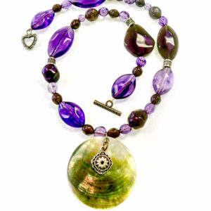 Romantic Amethyst Beaded Necklace Jewelry Idea