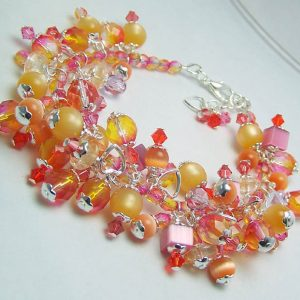 Colorful And Fun Beaded Bracelet Jewelry Idea
