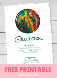 Bloodstone Free Printable Gemstone Properties Card #gemstones #crystals
