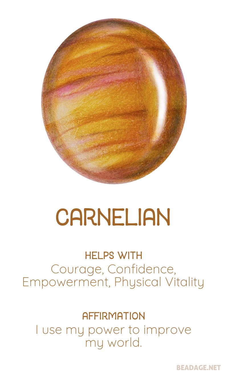 Carnelian Printable Gemstone Properties Cards #gemstones #crystals