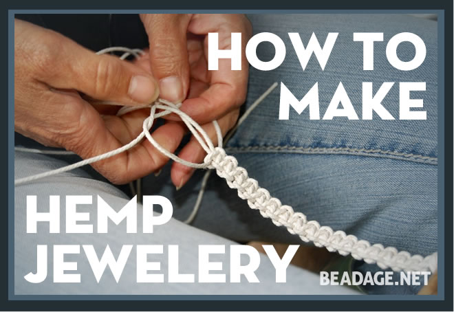 Learn how to make hemp jewelry beadage for What can i make at home to sell online