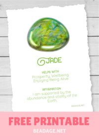 Jade Free Printable Gemstone Properties Card #gemstones #crystals