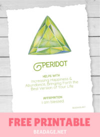 Peridot Free Printable Gemstone Properties Card #gemstones #crystals