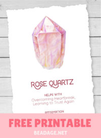 Rose Quartz Free Printable Gemstone Properties Card #gemstones #crystals