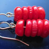 Red Coral Earrings Project