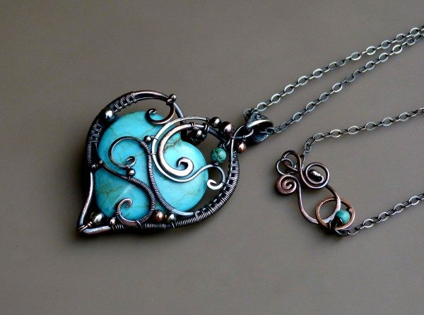 Love Pendant – Wire Wrapped Turquoise Pendant Project