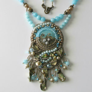 Ocean Treasures Beadwork Necklace Jewelry Idea