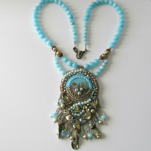 Ocean Treasures Beadwork Necklace