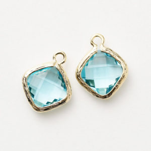 Shop Aquamarine Pendants! 1069071 / Aquamarine / 16k Gold Plated Brass Framed Glass Pendant  10.5mm x 13mm / 0.6g / 2pcs | Natural genuine Aquamarine pendants. Buy crystal jewelry, handmade handcrafted artisan jewelry for women.  Unique handmade gift ideas. #jewelry #beadedpendants #beadedjewelry #gift #shopping #handmadejewelry #fashion #style #product #pendants #affiliate #ad
