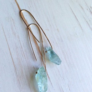 Aquamarine Earrings Aquamarine Raw Hoop Aquamarine Jewelry | Natural genuine Gemstone earrings. Buy crystal jewelry, handmade handcrafted artisan jewelry for women.  Unique handmade gift ideas. #jewelry #beadedearrings #beadedjewelry #gift #shopping #handmadejewelry #fashion #style #product #earrings #affiliate #ad
