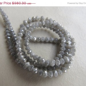 Shop Raw & Rough Diamond Beads! Rough Diamond Beads, Faceted Diamond Beads, Raw Diamonds, 4mm To 2mm Each, 8 Inch Half Strand | Natural genuine beads Diamond beads for beading and jewelry making.  #jewelry #beads #beadedjewelry #diyjewelry #jewelrymaking #beadstore #beading #affiliate #ad