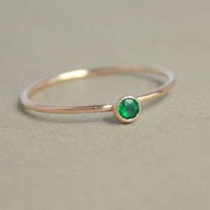 Emerald ring. gold ring. ONE delicate stackable birthstone ring. mothers ring. 14k gold filled. engagement ring. March birthstone ring. | Natural genuine Emerald rings, simple unique alternative gemstone engagement rings. #rings #jewelry #bridal #wedding #jewelryaccessories #engagementrings #weddingideas #affiliate #ad