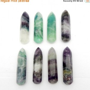 Fluorite Point – Beautiful Fluorite Massage Wand Point – Reiki – Chakra -Power Stone – Jewelry Making  (RK22B1)