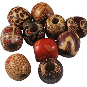 Large Hole Wood Beads