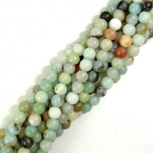 Amazonite –  Round, 4 Mm, 15.5 Inch, Full Strand, Approx 100 Beads, Full Strand, Hole 0.8 Mm (111054022)