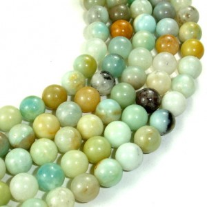 Shop Amazonite Round Beads! Amazonite Beads, Round, 8mm, 15.5 Inch, Full strand, Approx 47-50 beads, Hole 1 mm, A quality (111054016) | Natural genuine round Amazonite beads for beading and jewelry making.  #jewelry #beads #beadedjewelry #diyjewelry #jewelrymaking #beadstore #beading #affiliate #ad