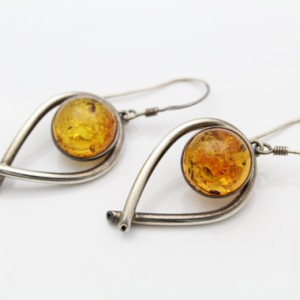 Shop Amber Earrings! Large Vintage Sterling Silver Amber Cabochon Teardrop Abstract Dangle Earrings. [7430] | Natural genuine Amber earrings. Buy crystal jewelry, handmade handcrafted artisan jewelry for women.  Unique handmade gift ideas. #jewelry #beadedearrings #beadedjewelry #gift #shopping #handmadejewelry #fashion #style #product #earrings #affiliate #ad