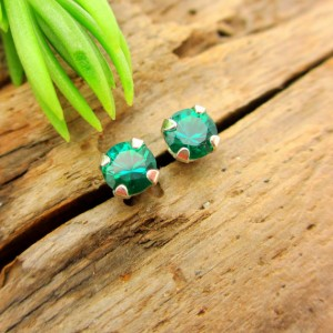 Emerald Earrings: Solid 14k Gold, Platinum, or Sterling Silver Studs | Lab Grown Gemstones | For Men or Women | Made in Oregon | Natural genuine Emerald earrings. Buy handcrafted artisan men's jewelry, gifts for men.  Unique handmade mens fashion accessories. #jewelry #beadedearrings #beadedjewelry #shopping #gift #handmadejewelry #earrings #affiliate #ad