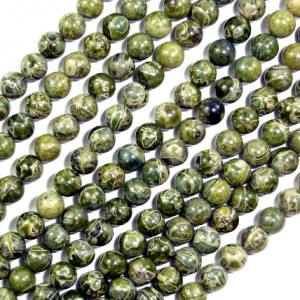 Alligator Skin Jasper Beads, Round, 4 Mm, 15.5 Inch, Full Strand, Approx 90 Beads, Hole 0.5 Mm, A Quality (288054021)