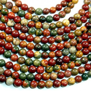 Shop Jasper Beads! Picasso Jasper Beads, 6mm (6.5mm) Round Beads, 15.5 Inch, Full strand, Approx 62 beads, Hole 1 mm, A+ quality (344054002) | Natural genuine beads Jasper beads for beading and jewelry making.  #jewelry #beads #beadedjewelry #diyjewelry #jewelrymaking #beadstore #beading #affiliate #ad