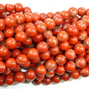 Shop Red Jasper Beads! Red Jasper Beads, Round, 8 mm, 16 Inch, Full strand, Approx 47 beads, Hole 1 mm(371054006) | Natural genuine beads Jasper beads for beading and jewelry making.  #jewelry #beads #beadedjewelry #diyjewelry #jewelrymaking #beadstore #beading #affiliate #ad
