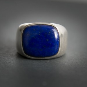 Lapis Ring – Large Lapis Lazuli Ring – Size 9, 9.5, 10, 10.5, 11, 12, 12.5 Or 13 – Mens Lapis Ring – Lapis Jewelry – Sterling Silver Lapis