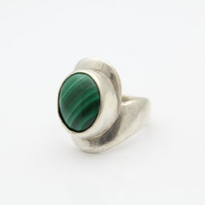 Shop Malachite Rings! Heavy Modern Ring With Malachite Stone Set In Sterling Silver Size 6.5. [7413] | Natural genuine Malachite rings, simple unique handcrafted gemstone rings. #rings #jewelry #shopping #gift #handmade #fashion #style #affiliate #ad