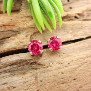 Shop Ruby Earrings! Ruby Studs – Lab Grown Ruby Stud Earrings In Real 14k Gold, Sterling Silver, Or Platinum – 3mm, 4mm, 5mm, 6mm, 8mm, 10mm | Natural genuine Ruby earrings. Buy crystal jewelry, handmade handcrafted artisan jewelry for women.  Unique handmade gift ideas. #jewelry #beadedearrings #beadedjewelry #gift #shopping #handmadejewelry #fashion #style #product #earrings #affiliate #ad