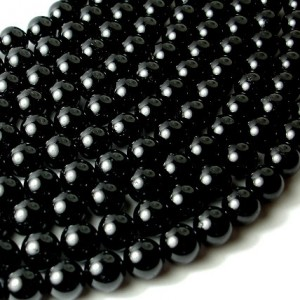 Shop Tourmaline Beads! Black Tourmaline Beads, Round, 10 mm, 16 Inch, Full strand, Approx 39 beads, Hole 1 mm (147054002) | Natural genuine beads Tourmaline beads for beading and jewelry making.  #jewelry #beads #beadedjewelry #diyjewelry #jewelrymaking #beadstore #beading #affiliate #ad