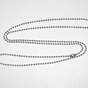 10 Stainless steel 30 inch military ball chain (dog tags) necklace