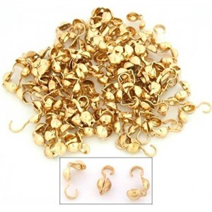 100 Bead Tips Clamshell Gold Plated Bead Stringing Parts | Shop jewelry making and beading supplies, tools & findings for DIY jewelry making and crafts. #jewelrymaking #diyjewelry #jewelrycrafts #jewelrysupplies #beading #affiliate #ad