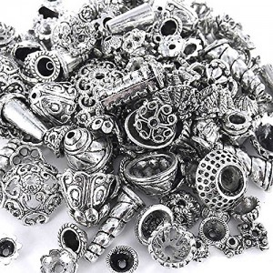 70-Piece Bali Style Jewelry Making Metal Bead Caps Deluxe New Mix, 100gm, Silver | Shop jewelry making and beading supplies, tools & findings for DIY jewelry making and crafts. #jewelrymaking #diyjewelry #jewelrycrafts #jewelrysupplies #beading #affiliate #ad