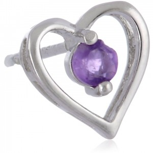 Sterling Silver Birthstone Heart Earrings | Shop jewelry making and beading supplies, tools & findings for DIY jewelry making and crafts. #jewelrymaking #diyjewelry #jewelrycrafts #jewelrysupplies #beading #affiliate #ad