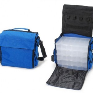 Darice Nylon Carry Bag with 5 Bead-Ready Organizers