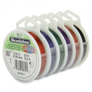 Beadalon 7-Strand Beading Stringing Wire, 0.15- Inch, 6-Pack Assorted Colors, 30-Feet