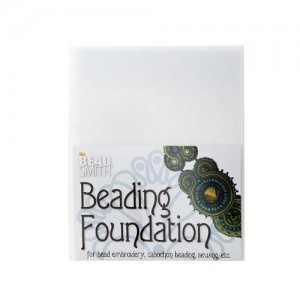 Beadsmith Beading Foundation for Embroidery White 8.5″x11″