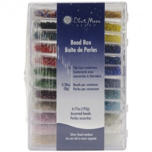 Blue Moon Bead Boutique Bead Box, Multi Color Silver Lined Seed Beads | Shop jewelry making and beading supplies, tools & findings for DIY jewelry making and crafts. #jewelrymaking #diyjewelry #jewelrycrafts #jewelrysupplies #beading #affiliate #ad