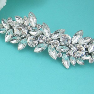 Bridal Rhinestone Crystal Barrette, Bridal Comb Crystal, Wedding Crystal Hair Comb, Hair Barette, Wedding Accessory, Giselle Barrette Clip | Shop jewelry making and beading supplies, tools & findings for DIY jewelry making and crafts. #jewelrymaking #diyjewelry #jewelrycrafts #jewelrysupplies #beading #affiliate #ad