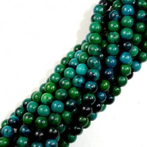 Chrysocolla , 4mm Round Beads , 16 Inch, Full strand, Approx 94 beads, Hole 1 mm, A quality, Reconstituted  (196054006) | Natural genuine round Chrysocolla beads for beading and jewelry making.  #jewelry #beads #beadedjewelry #diyjewelry #jewelrymaking #beadstore #beading #affiliate #ad